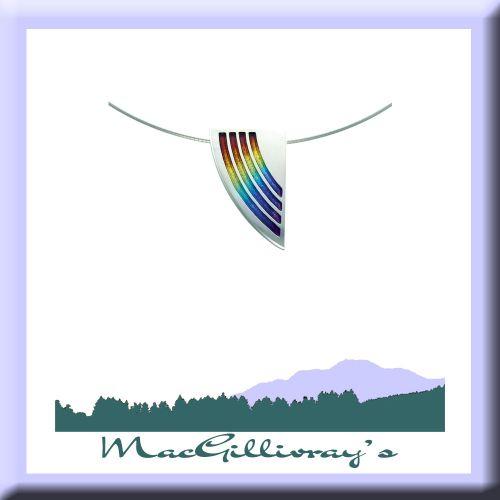 Rainbow Silver Enamel Necklet
