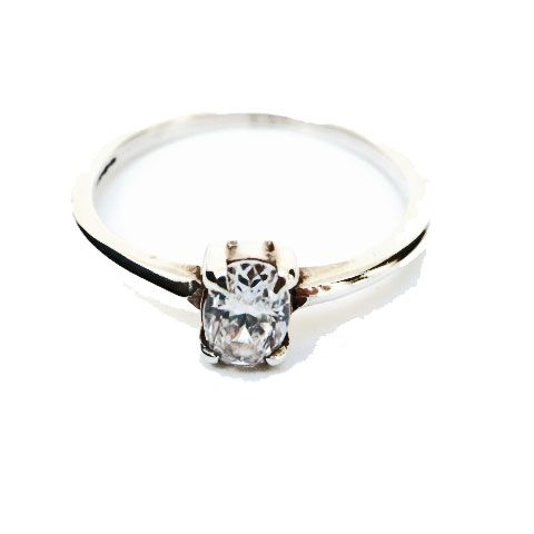 Clachan Silver Ring set with Cubic Zirconia