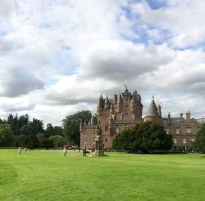 Glamis Castle, birthplace of Queen Elizabeth, the Queen Mother.