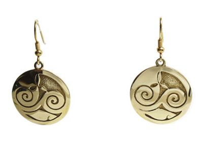 Mhorain Celtic Gold Earrings