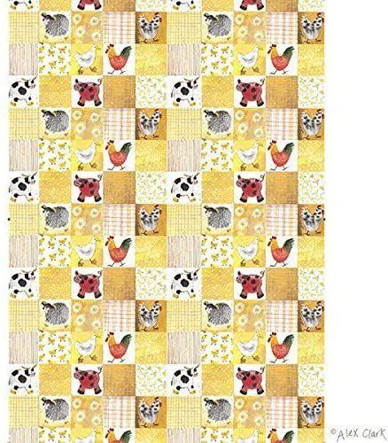 Checkerboard Farm Tea Towel