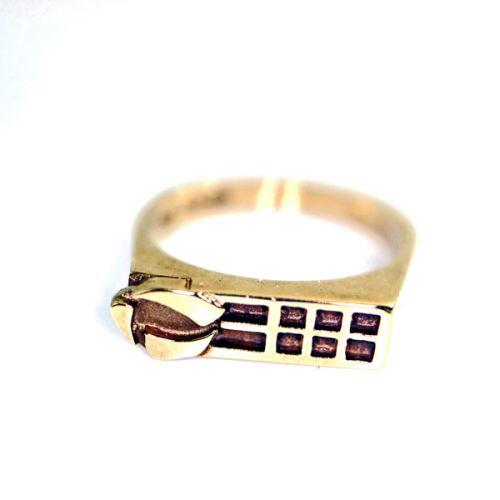 Ladies 9ct Gold Mackintosh Ring - Size O