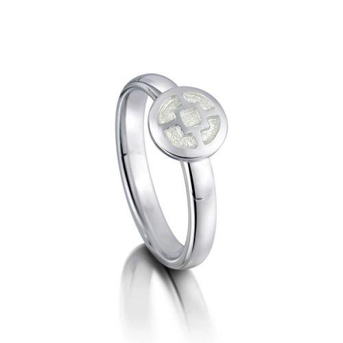 Mine Howe Silver Enamel Ring - Sheila Fleet Jewellery